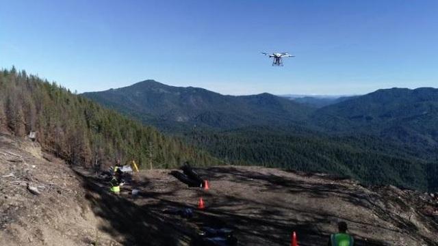 Máy bay không người lái tái canh rừng bị cháy rụi ở Mỹ