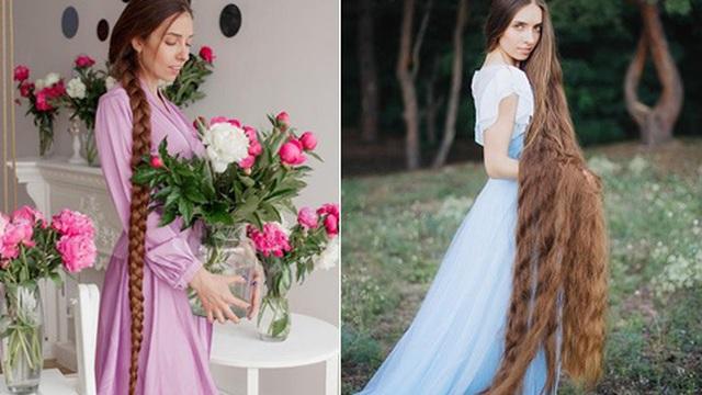 """Mê mẩn trước suối tóc dài 1m8 của """"nàng Rapunzel"""" ngoài đời thực"""