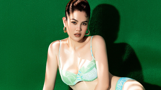 Dù đã 3 lần sinh nở, vóc dáng của Hoa hậu Phương Lê vẫn gợi cảm khó rời mắt