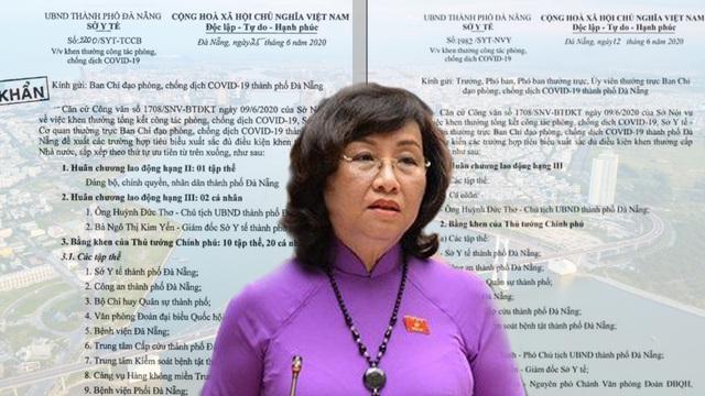 Đà Nẵng: Giám đốc Sở Y tế lên tiếng về thông tin đề nghị tặng Huân chương cho chính mình