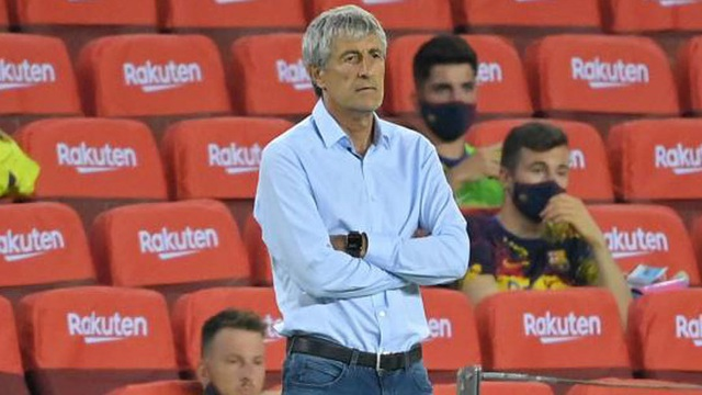 """Barca lại hòa thất vọng, HLV Setien đã chấp nhận """"tung cờ trắng""""?"""