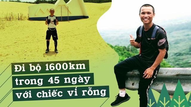 45 ngày đi bộ xuyên Việt với 0 đồng, chàng trai vừa xin ăn, làm thuê vừa quyên góp 127 triệu cho người nghèo