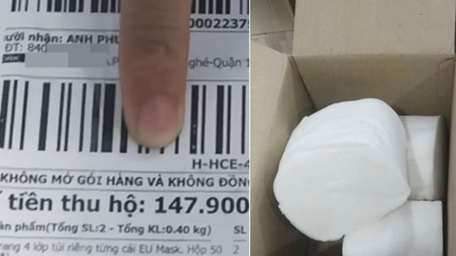 Đặt mua khẩu trang qua mạng, chàng trai Sài Gòn mếu máo khi ngày nhận hàng bóc ra 3 cuộn giấy vệ sinh!?