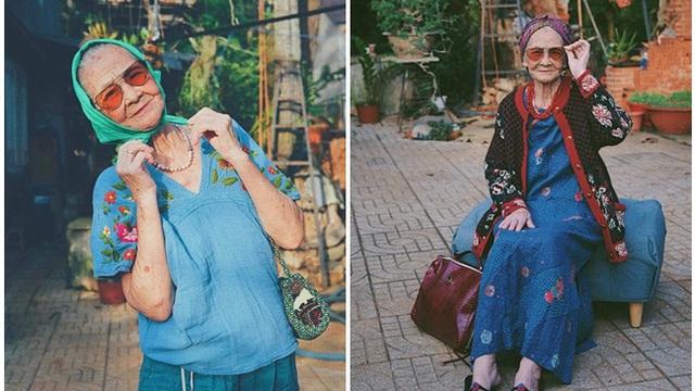 """Bà ngoại U90 """"lên đồ"""" cực chất, loạt ảnh khiến tất cả không ngừng cảm thán, thích thú"""