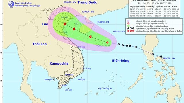 Áp thấp nhiệt đới có thể mạnh lên thành bão, hướng về đồng bằng Bắc Bộ và Bắc Trung Bộ