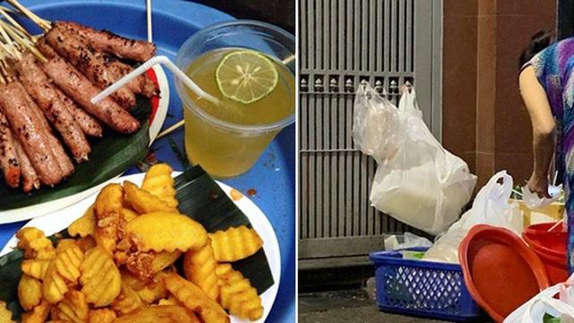 Dân mạng xôn xao với hình ảnh làm đồ ăn bẩn ở quán nem nướng nổi tiếng phố cổ: Nhặt đồ thừa khách trước cho khách sau ăn, cốc nhựa dùng rồi rửa lại đem bán tiếp?