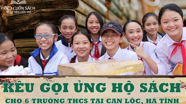 Kêu gọi ủng hộ sách cho 6 trường THCS tại Can Lộc, Hà Tĩnh