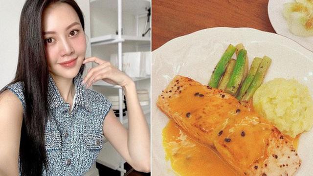 Vũ Ngọc Châm đứng ngoài hội gái đoảng với loạt món ăn tự nấu xịn như nhà hàng