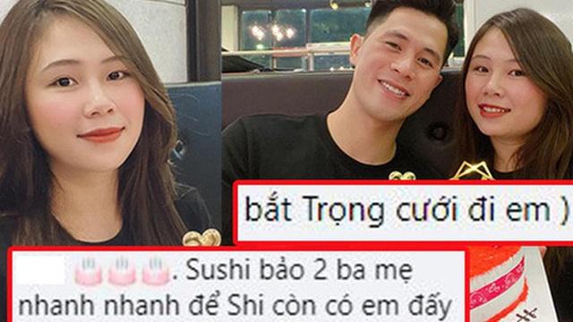 Duy Mạnh 'xúi' bạn gái Đình Trọng: 'Bắt Trọng cưới đi em'