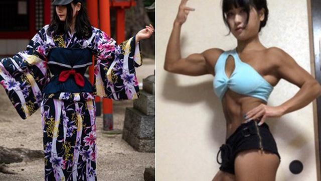 Nàng Lolita Nhật Bản để lộ hình thể cơ bắp như vận động viên cử tạ