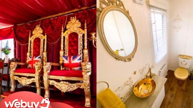 """Bỏ 4,8 triệu/đêm trải nghiệm cuộc sống vương giả trong cung điện Buckingham phiên bản... """"lều trại"""""""