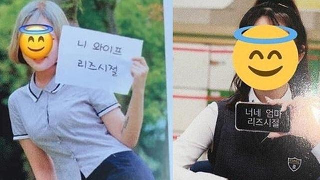 Học trò Hàn Quốc thi nhau chụp ảnh kỷ yếu, đọc dòng chữ lầy lội mà muốn 'xỉu up xỉu down'