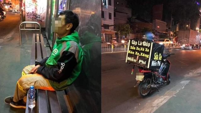 Tài xế gắn chiếc hộp lạ sau xe, dòng chữ trên đó người chứng kiến ấm lòng