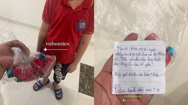 """Tặng bạn gái cùng lớp hộp kẹo và lá thư, cậu nhóc khiến người chị """"chết lặng"""" vì dòng chữ trên giấy"""