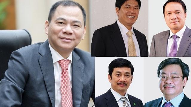 10 doanh nhân nắm tài sản lớn nhất trên sàn chứng khoán Việt