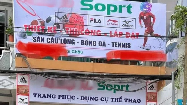 Cửa hàng thể thao đặt biển hiệu to đùng, dân tình phát tức vì sai từ Tiếng Anh cơ bản, chủ tiệm coi như mất toi chục triệu