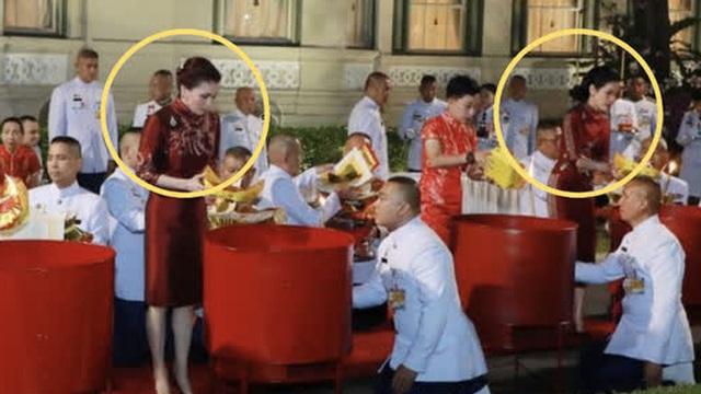 Hoàng hậu Suthida lần đầu tái xuất sau khi Vua Thái tấn phong Hoàng quý phi làm Hoàng hậu thứ 2, gây chú ý khi cả 2 vợ chạm mặt tại sự kiện