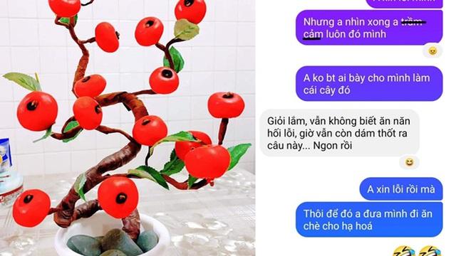 """Vợ làm cây bonsai chơi Tết xấu thậm tệ, chồng trót chê vài câu liền nhận cái kết """"xanh mặt"""""""