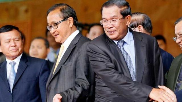"""Sam Rainsy hô hào dân Campuchia học người biểu tình Myanmar, ông Hun Sen bị """"réo tên"""": Phnom Penh nóng mặt"""