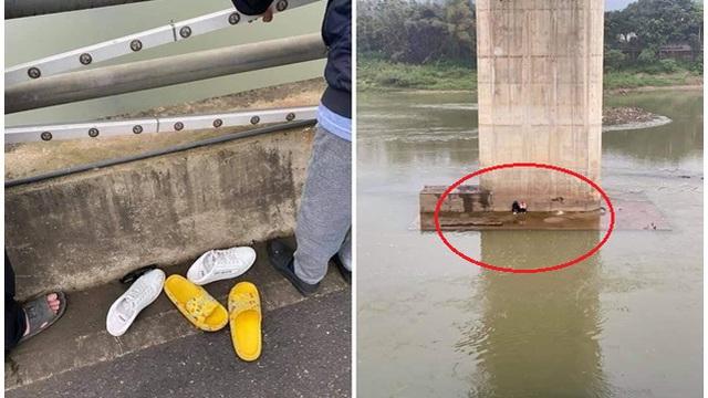 Xôn xao cặp đôi vứt giày dép nhảy cầu tự tử nhưng phút cuối nghĩ lại, bơi lên bờ ngồi co ro
