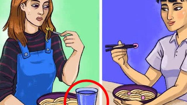 Nhật Bản là một thế giới khác: Người Nhật không bao giờ uống nước trong lúc ăn, đây là lý do