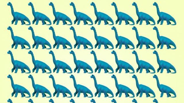 Thách thức thị giác 15 giây: Bạn có nhìn ra con khủng long khác biệt trong đàn?