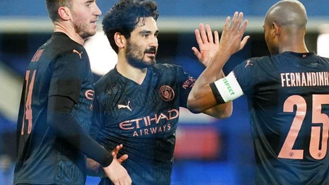 6 phút cuối ghi 2 bàn, Man City hạ Everton để giành vé bán kết FA Cup