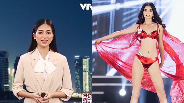 Cận cảnh nhan sắc người đẹp Hoa hậu Việt Nam dẫn bản tin VTV