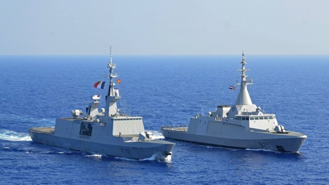 Hải quân Ai Cập, Pháp tiến hành tập trận chung ở Biển Đỏ