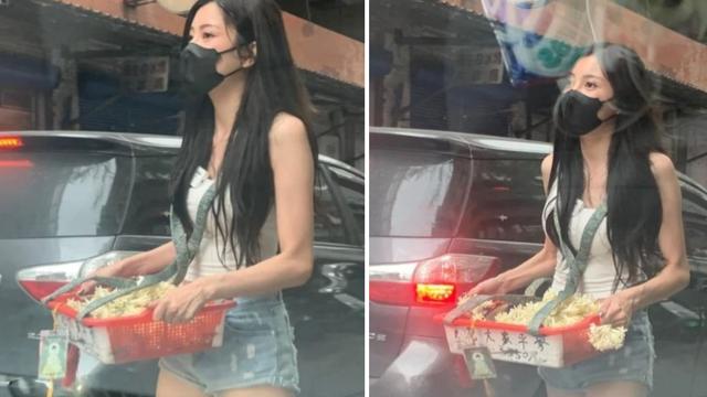 """Nữ streamer xinh đẹp bỗng chốc """"nổi như cồn"""" sau loạt ảnh bán hoa dạo trên đường phố"""