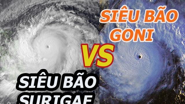 So sánh Surigae với siêu bão mạnh nhất năm 2020 để thấy được sức mạnh khủng khiếp của nó