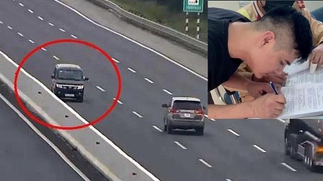 Phạt 17 triệu đồng, tước GPLX tài xế chạy ngược chiều trên cao tốc