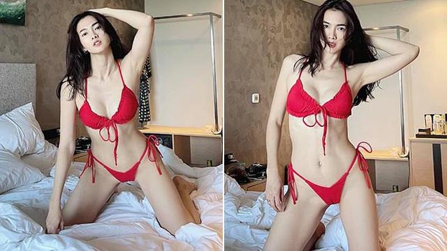 Cựu siêu mẫu Anh Thư diện bikini gợi cảm, khoe dáng nuột