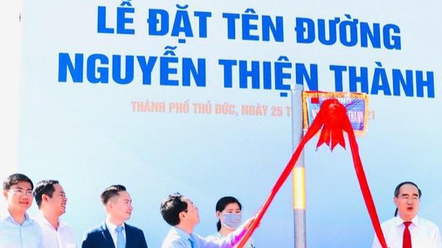 Thân phụ ông Nguyễn Thiện Nhân được đặt tên đường ở Thủ Thiêm
