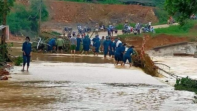 Thái Nguyên: Lũ quét, ngập úng cục bộ, di dời 13 hộ dân ngay trong đêm