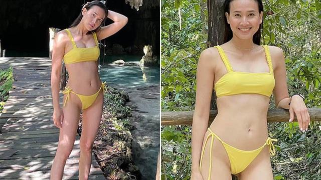Đỗ Mỹ Linh, Tiểu Vy đọ dáng khi diện bikini gợi cảm