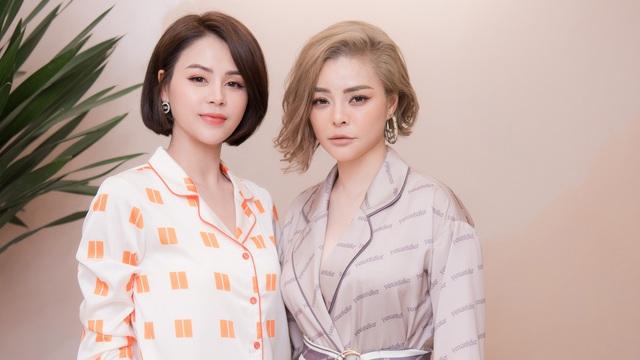Diễn viên Thu Trang, hoa hậu Dương Thùy Linh đến chúc mừng NTK Thu Yến