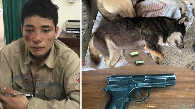 Thái Nguyên: Trộm chó rút súng bắn thủng đùi công an khi bị truy đuổi