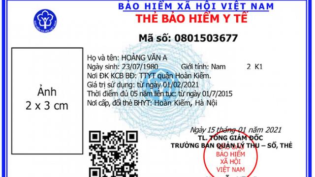 Bốn lưu ý về thẻ BHYT mẫu mới