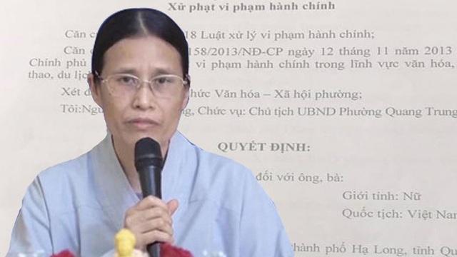 Bác đơn khởi kiện của bà Phạm Thị Yến liên quan tới việc cúng bái tại chùa Ba Vàng