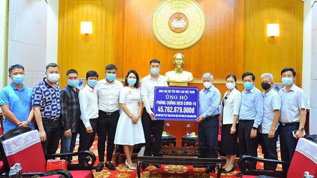 Nhóm 'Anh chị em yêu hoa lan Việt Nam' ủng hộ 45,7 tỉ đồng chống dịch Covid-19