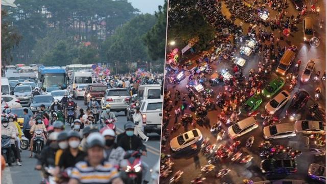 """Khách đến Đà Lạt vẫn đông kín, nguy cơ bùng dịch """"rất cao""""; Chủ tịch tỉnh kêu gọi dân đi xe máy, nhường chỗ cho xe du lịch"""