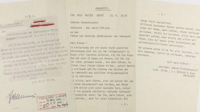 Hitler viết gì trong 'bức thư tuyệt mệnh'?