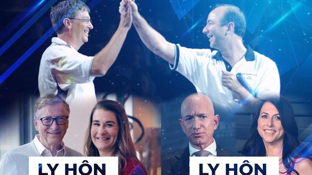 Điểm chung của tỉ phú Bill Gates và Jeff Bezos: Đều thích rửa bát, ly hôn bất ngờ