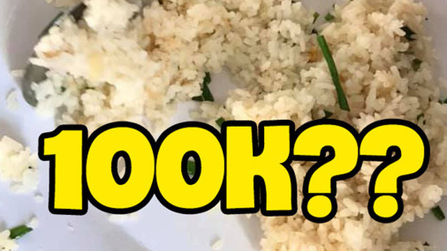 Sốc trước màn 'chém đẹp' thực khách tại quán ăn ở Vĩnh Hy: Dĩa cơm chiên hải sản 100k nhưng tìm 'đỏ mắt' không thấy thịt đâu?