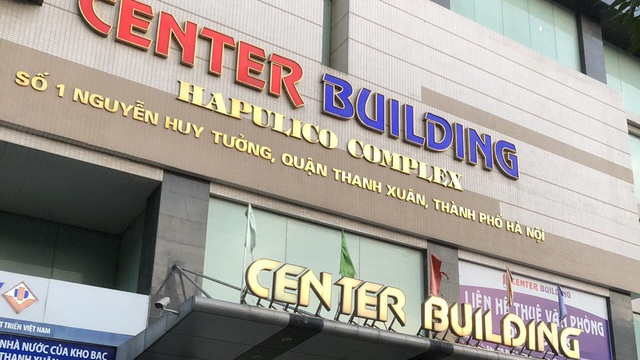 Một người làm việc tại toà nhà Center Building - Hapulico ở quận Thanh Xuân mắc Covid-19