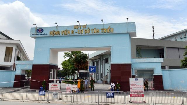 Đến chiều 7/5, đã có 11 ca dương tính SARS-CoV-2 tại Bệnh viện K Tân Triều