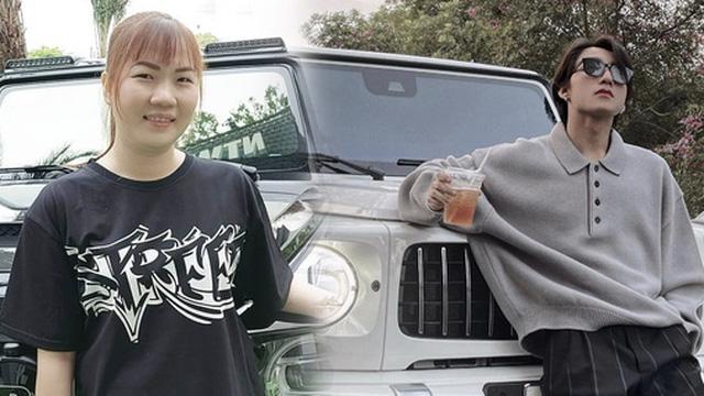 Làm trợ lý của Ngọc Trinh nên Thúy Kiều cũng được 'hưởng ké', tạo dáng bên siêu xe xịn xò như ảnh đôi với Sơn Tùng