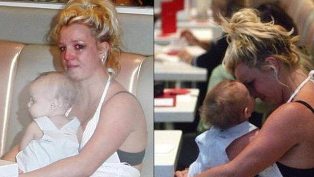 Khoảnh khắc buồn của ngành giải trí Mỹ: Britney Spears bụng mang dạ chửa ôm con khóc trong quán cafe vì bị 321 paparazzi bao vây