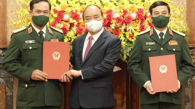 Thăng quân hàm Đại tướng và Thượng tướng cho hai lãnh đạo Bộ Quốc phòng